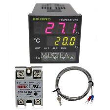 INKBIRD 220V ITC-100VH Digital PID Temperature Controller + K Sensor + 60A SSR
