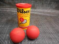 Old Vtg Wilson Official Championship Racquetballs Red Ball Yellow Can Advertisin