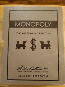 Monopoly Board Game. Vintage Bookshelf Edition.