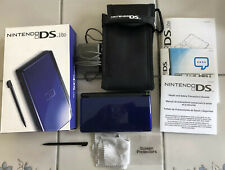 Nintendo DS Lite Cobalt Blue + Box, Manual, Charger, Carrying Case, Screen Saver