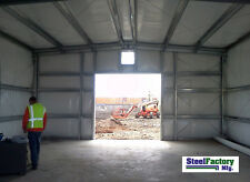 Steel Factory Mfg 30x50x14 Auto Body Garage Style Metal Shop Storage Building