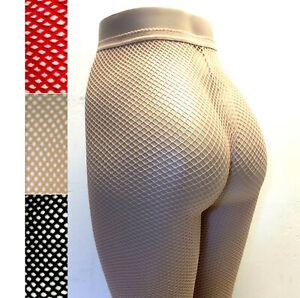 Fishnet Pantyhose Nylon Spandex Beige Black Red Size Reg Leg Avenue 9013