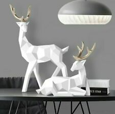 Stunning Deer Stag Pair Sculpture Home Decoration Ornament 3D Animal Statue 2020