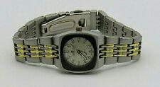 dE DENACCI Men's Quartz Watch Silver & Gold Tone Bracelet Band VO320L WR