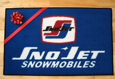 Sno-Jet Snowmobile Vintage Retro logo door mat