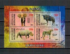 Côte d'Ivoire, Leopard | rhinocéros | éléphant petit arc Mini sheet, 2013 ** MNH