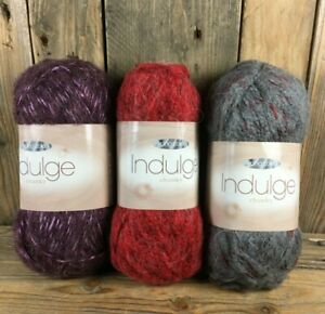 King Cole Indulge Chunky Knitting Yarn Carmine Matador Cardinal 3 x 100g Balls
