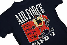 MENS M VTG 90s AIR FORCE TAZ T Shirt The Best Never Rest USAF PAFB Football Blue