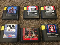 Sega Genesis Sports Game Lot (6 Games) NHL FIFA NBA Madden NFL Football