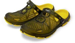 Black Cat NEW Cat Fish / Carp Fishing Clogs / Bivvy Shoes - All Sizes - Zebco