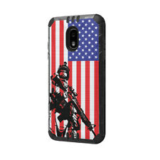 Case Samsung Galaxy J3 TOP/Orbit /J337/Star/Amp Prime 3/ J3V - Marine USA Flag