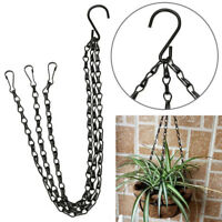 Hanging Chain Flower Pot Plastic Planter Basket Garden Flexible Home Decoration