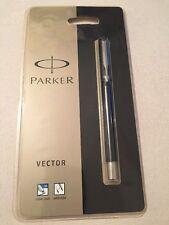 PARKER VECTOR BLACK CT ROLLERBALL PEN-FRANCE-SEALED BLISTER PACK-NEW OLD STOCK