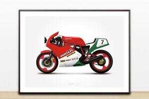 DUCATI 1198S SPORTBIKE AC486 Photo Poster Print Art * All Sizes BIKE POSTER