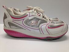 SKETCHERS Shape-Up Women's Shoes Size 9 Pink White Silver Exercise Toning VG+