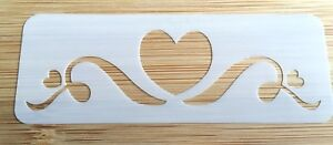 Face painting stencil reusable washable heart crown Mylar glitter henna tattoo