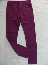 HEYZEUS maroon red slim skinny leg denim jeans size 32 NWOT