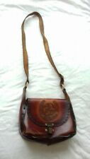 GENUINE LEATHER HAND MADE IN WALES WOMENS LADIES CROSS BODY BROWN HANDBAGS BAGS