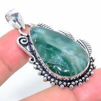 "African Vasonite Handmade Ethnic Style Jewelry Pendant 1.85"" R-VJ-6491"