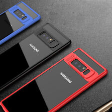 Para Samsung Galaxy Nota 8 Híbrido Claro Ultra fino TPU + PC Funda protectora