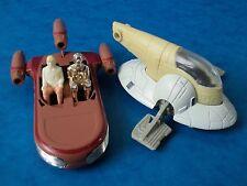 Vendimia Toys-Star Wars-Diecast esclavo 1 & Landspeeder-vehículos incompleto