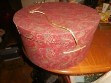 Vintage Hat Box Round Rope Handle 15 1/2'' Across & 8'' Tall