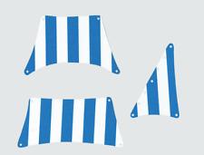 Segel kompatibel mit LEGO Schiff 6274 Blau-Weiß-mit doppelseit. Druck