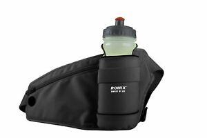 Running Belt with Water Bottle Holder Zip Pocket Waist Pack Waterproof Bum Bag