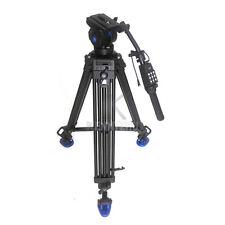 Benro KH-26NL 1.8M Video Fluid Drag Tripod +Remote Control Handle fr Sony Canon