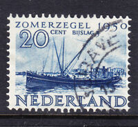 NETHERLANDS 1950 SG718 Relief Fund 20c +5 blue - fine used. Catalogue £23