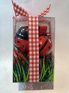 18 Crate & Barrel Ladybug Floating Candles Unscented Spring Summer Picnic