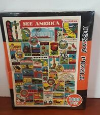 See America 1000 piece jigsaw puzzle DCBAHGFE K-3358 Sealed New in Damaged Box