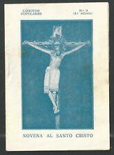 Librito novena antique del Cristo de Lepanto santino image pieuse estampa