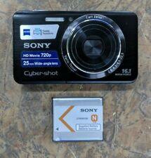 Sony Cyber-shot DSC-W650 16.1MP Digital Camera - Black - w/ Battery Only!