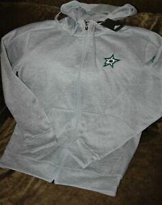 Dallas Stars hoodie sweatshirt women's medium Adidas Climawarm winter gear gray