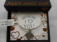 Alex and Ani Because I Love You GRANDMOTHER III Bracelet Rafaelian Silver NWTBC