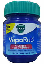 50gm  Vicks Vaporub Ointment Vaporizing blocked nose cough Nasal headache Relief