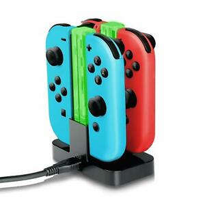 4 in 1 Charging Dock Stand Holder for Nintendo Switch Joy-Con Controllers