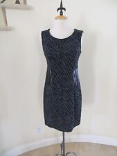 Enfocus Studio Gray & Black Zebra Print Sleeveless Short Dress, Size 6 SUPER HOT