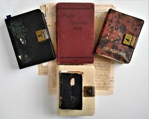 HANDWRITTEN DIARIES-World War One-Flying Saucers-History-Genealogy-1876-1974-PA