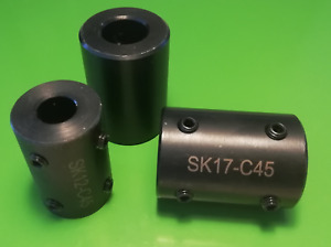 Wellenkupplung starr ohne Nut  C45 brüniert Adapter Kupplung f. Bohrung 5 - 50