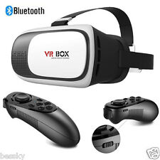 VR BOX Virtual Reality 3D Glasses Games Bluetooth【Remote Control】For Smartphone