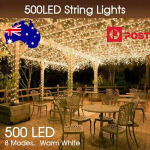 Warm White 100M 500LED  Waterproof Christmas Fairy String Lights Wedding Garden