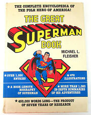 THE GREAT SUPERMAN BOOK HC G, 3rd Print, Encyclopedia, Michael Fleisher, 1978
