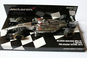 Minichamps 1:43 2014 Jenson Button, McLaren Mercedes MP4-29, Pre season, L/E 714