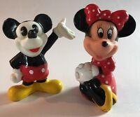 Mickey Mouse Minnie Mouse Disney Nostalgia! Vintage Disney Large Poseable PVC Mickey and Minnie Mouse PVC Figure Set ToyCake Topper