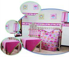 Baby Bedding Crib Cot Quilt Set 10 Pcs Quilt Bumper Sheet Dust Ruffle Blanket