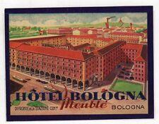 [CY] LUGGAGE LABEL ETICHETTA BAGAGLIO HOTEL - HOTEL BOLOGNA MEUBLE
