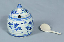 Delft Holland Handpainted Jar With Lid Cover