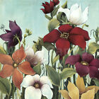 """36W""""x36H"""" EFFLORESCENCE by MAJA BEAUTIFUL MULTI-COLORED FLOWERS OVERSIZE CANVAS"""